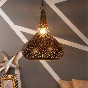 Antique Gold Mild Steel Single Hanging Light