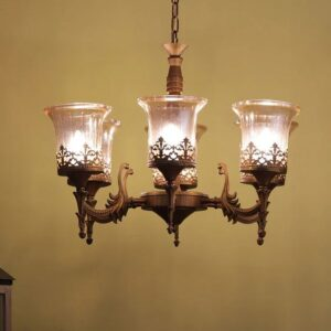 Bronze Glass Chandelier