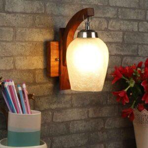 Brown Metal Wall Light