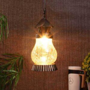 Gold Metal Single Hanging Light