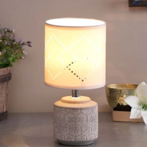 Surface Design Lamp with a Designer Cutout Shade