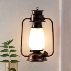 Oldie Copper Glass Wall Lanterns